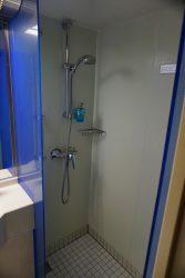 Dusche in unserer Aussenkabine auf der Mein Schiff 2