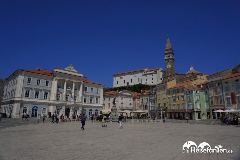 Schöner Blick auf die Altstadt von Piran