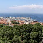 Blick auf den Hafen von Triest