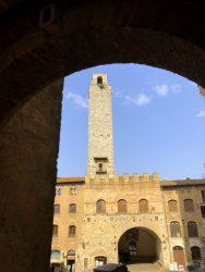 Blick auf den Palazzo Communale in San Gimignano