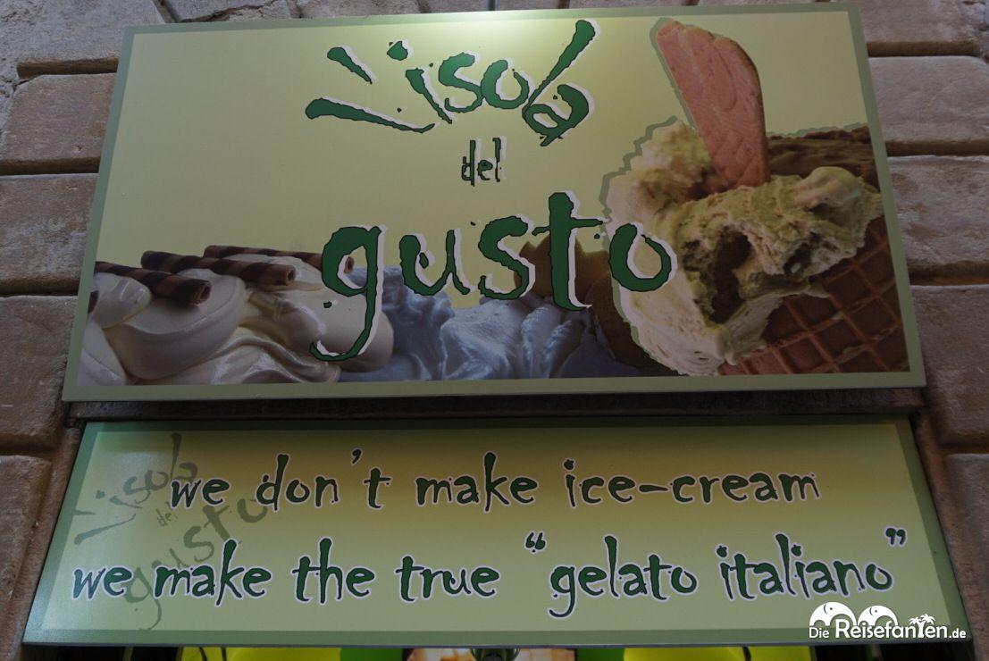 Die Eisdiele Lisola del gusta in Volterra