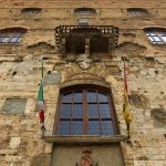 Häuserfassade in San Gimignano
