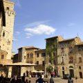 Mittelalterliche Häuser in San Gimignano