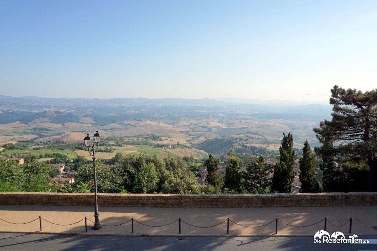 Von Volterra aus hat man einen fantastischen Blick über die toskanische Landschaft