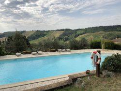 Zweiter Pool in der Fattoria Voltrona San Gimignano