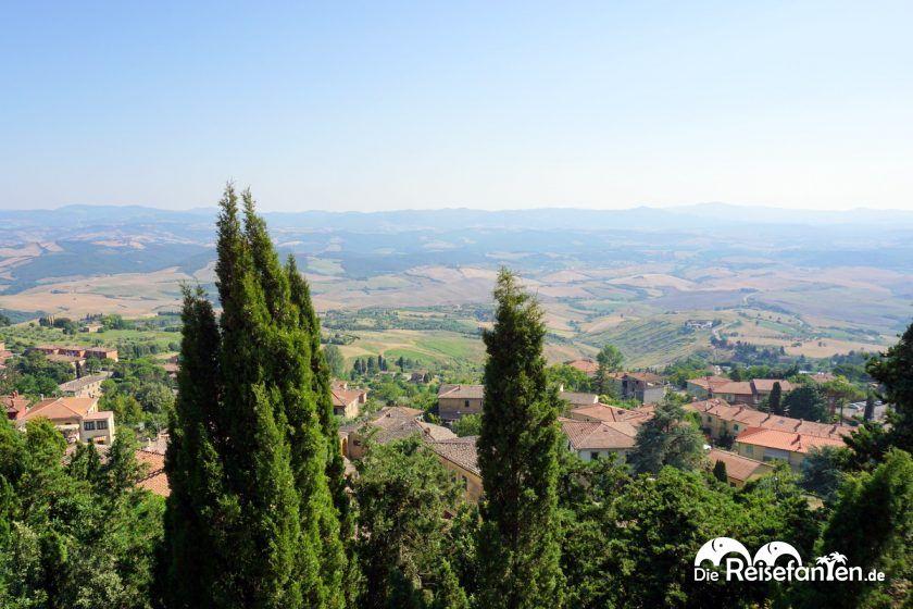 Blick über die Toskana von Volterra aus gesehen