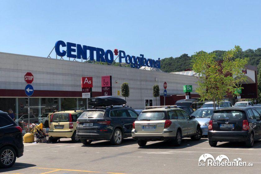 Das Einkaufszentrum in Poggibonsi