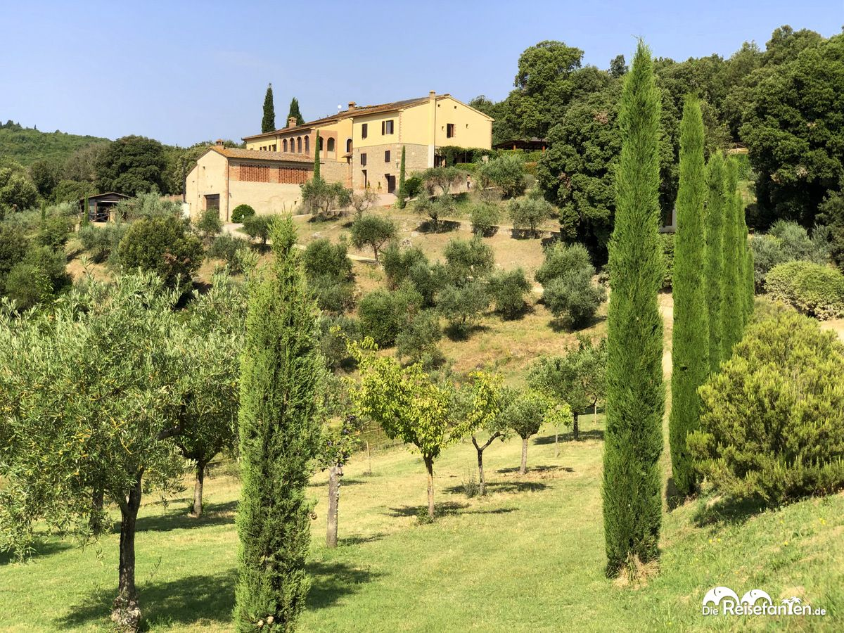 Das Haupthaus der Fattoria Voltrona San Gimignano