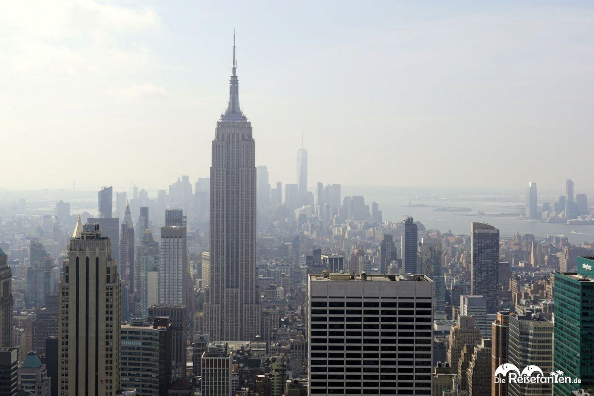 Empire State Building und One World Trade im Hintergrund