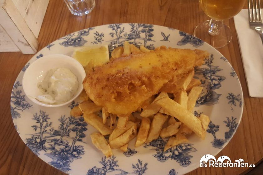 Fish and Chips bei Berties in Edinburgh