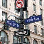 Straßenschild in NYC