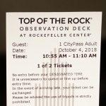 Ticket zum Rockefeller Center