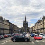 Auf dem Weg zur Circus Lane in Edinburgh