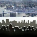 Aussicht mit Spiegelung im Observation Deck des One World Trade