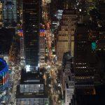 Die angrenzenden Straßen des Empire State Buildings in New York