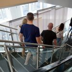 Treppen auf dem Observation Deck des One World Trade
