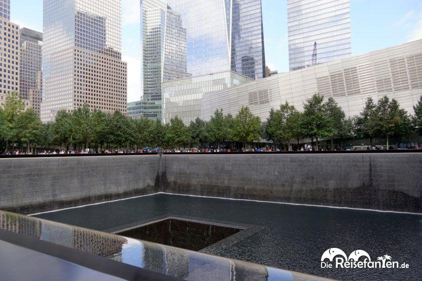 Die Wasserinstallationen am Ground Zero sind riesig