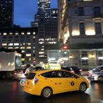 Taxi am Abend in New York