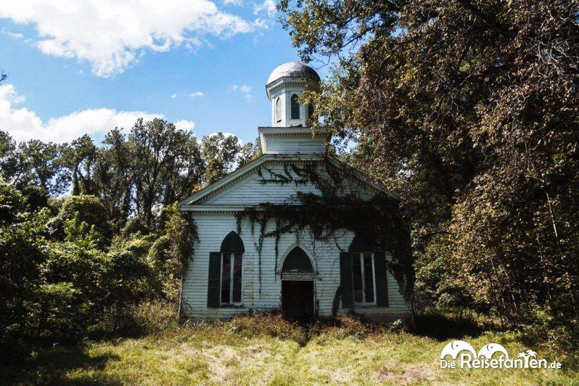 Die First Baptist Church in Rodney, Mississippi, wurde 1850 erbaut