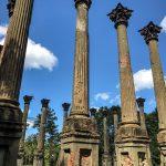 Die Säulen der Windsor Ruins am Mississippi stehen verlassen in der Landschaft