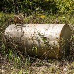 Ein alter Tank in Rodney, Mississippi