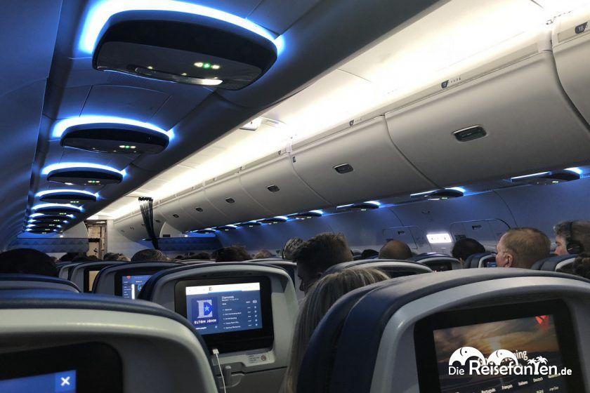 Im Delta Flugzeug nach Atlanta