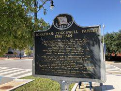 Infotafel zu Jonathan Coggswell Farley in Montgomery