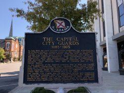 Infotafel zu den Capital City Guards in Montgomery