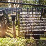 Infotafel zu den Windsor Ruins am Mississippi