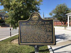 Infotafel zur Geschichte von Alabama in Montgomery