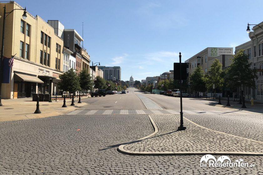 Leere Straßen in Montgomery
