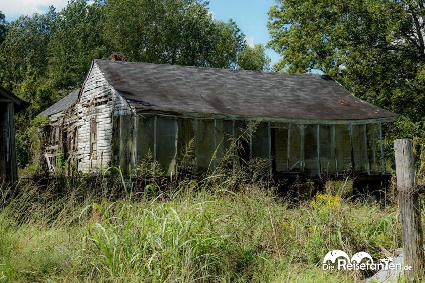 Verfallenes Haus in Rodney, Mississippi
