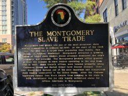 Weitere Infotafel zum Sklavenhandel in Montgomery