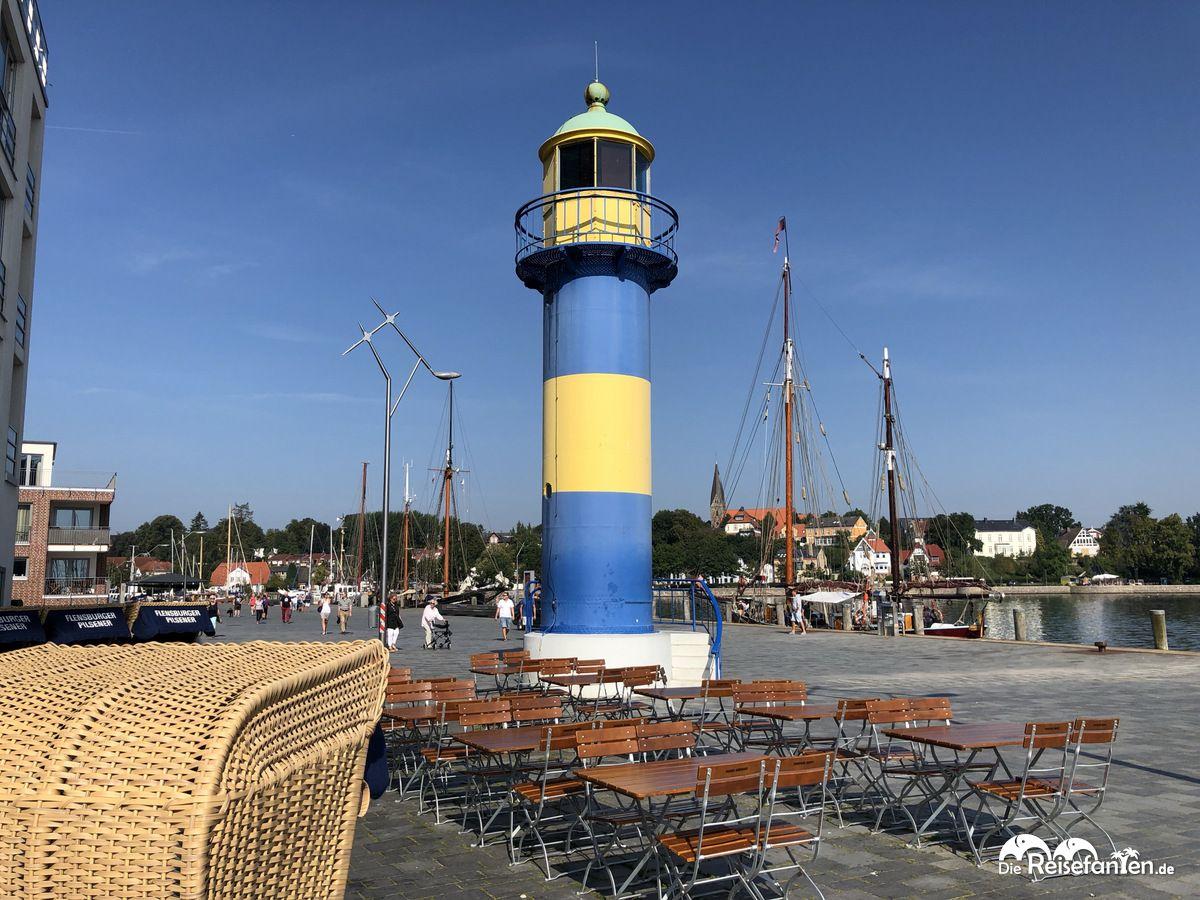 Blick vom Restaurant Mehrfisch in Eckernförde