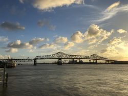 Blick auf den Mississippi River in Baton Rouge