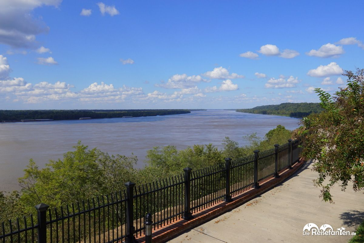 Der Mississippi River in Natchez