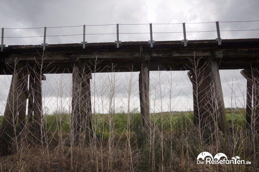 Die Brücke nahe eines Drehortes von True Detective