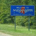 Mississippi Welcome Schild