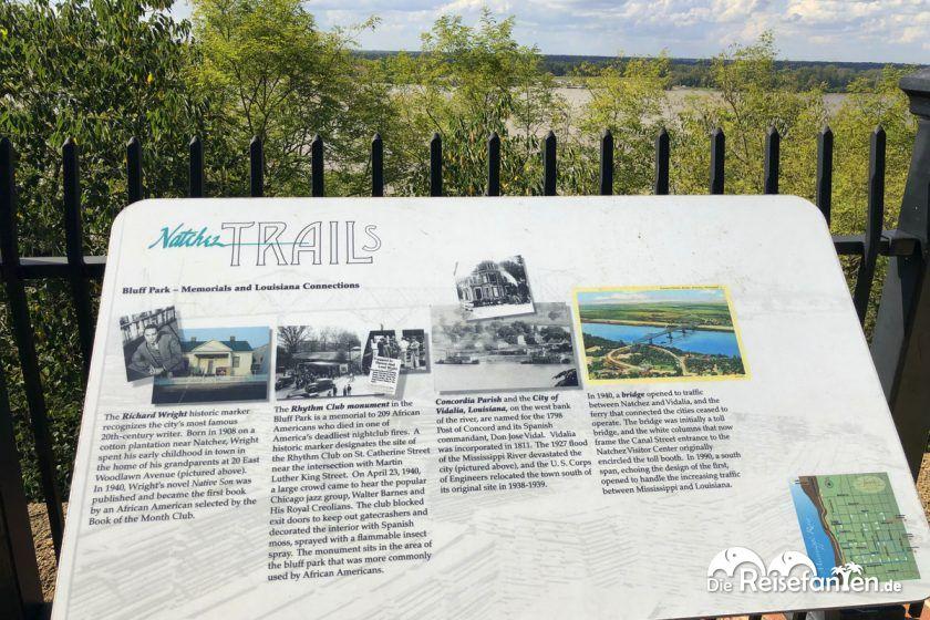 Natchez Trail Infotafel
