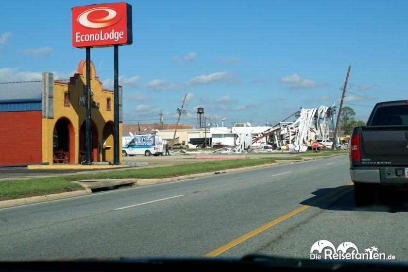 Auch diese Tankstelle fiel Hurricane Michael zum Opfer