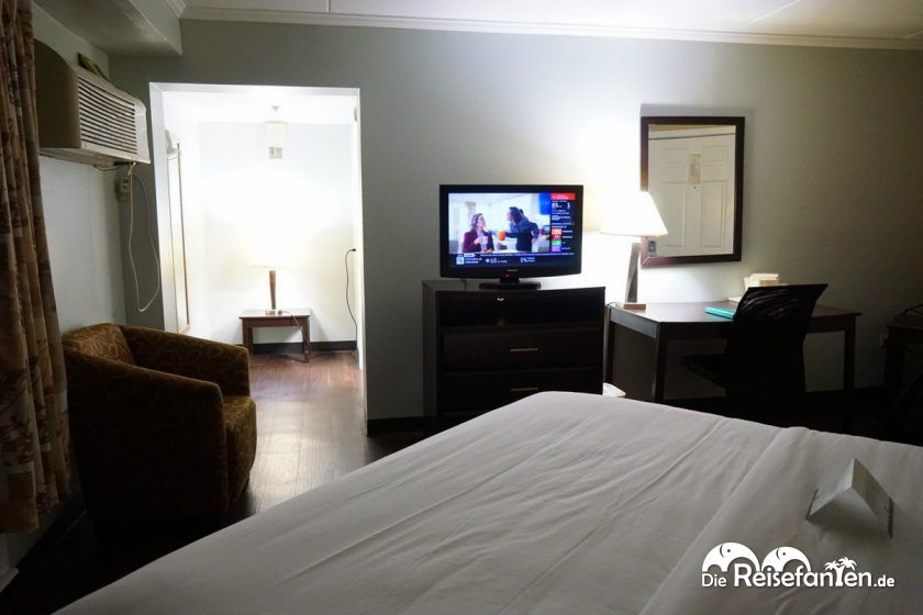 Beleuchtetes Doppelzimmer im Quality Inn Downtown Historic District Mobile