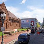Blick auf das WW2 Museum in New Orleans