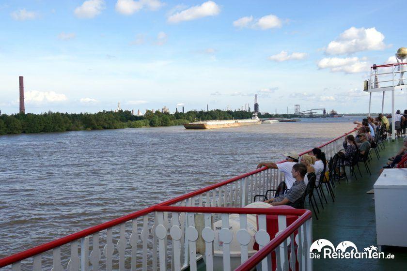 Blick vom Steamboat Natchez in New Orleans