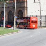 City Sightseeing New Orleans Bus von hinten gesehen