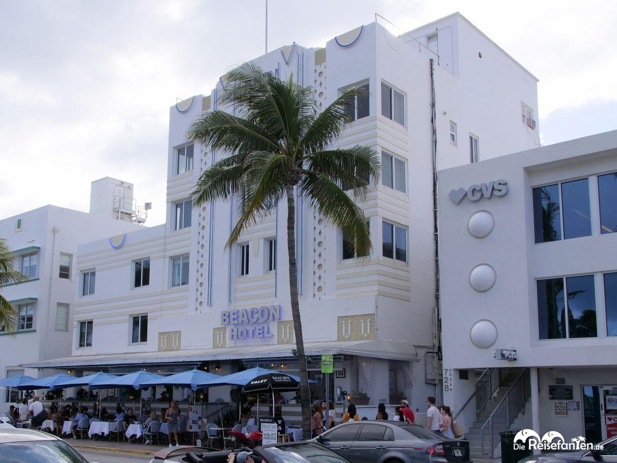 Das Beacon Hotel in Miami Beach von aussen gesehen