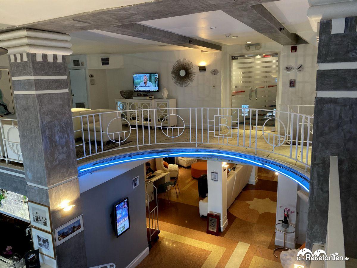 Lobbyblick im Beacon South Beach Hotel in Miami