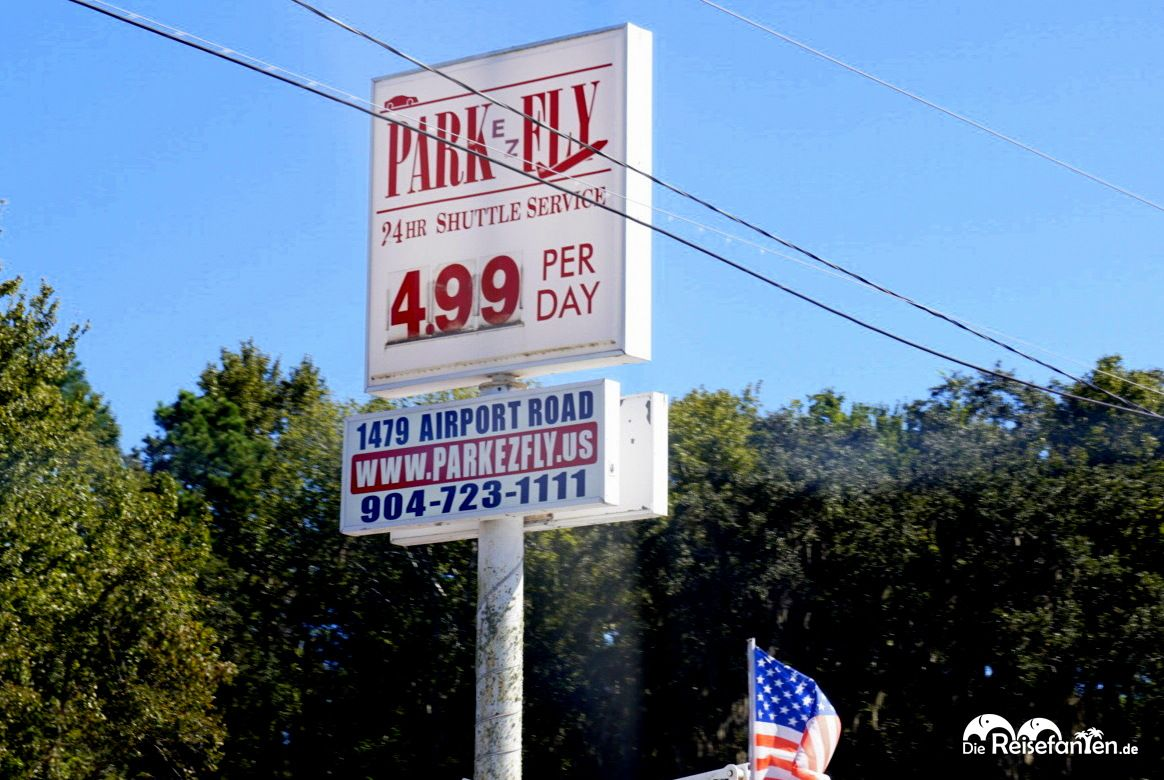 Park EZ Fly Leuchtreklame in Jacksonville