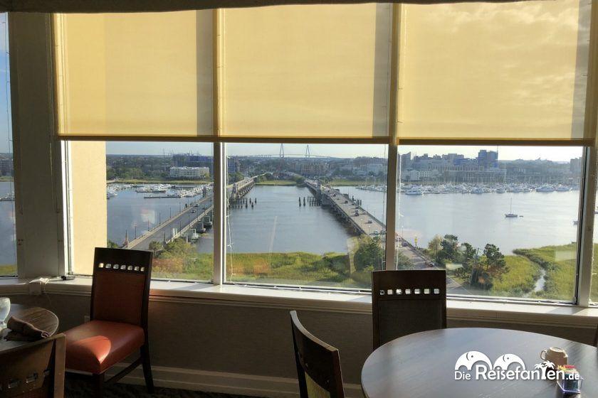 Frühstücksaussicht im Holiday Inn Charleston Riverview