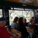 Im Inneren des Trolleys in Savannah