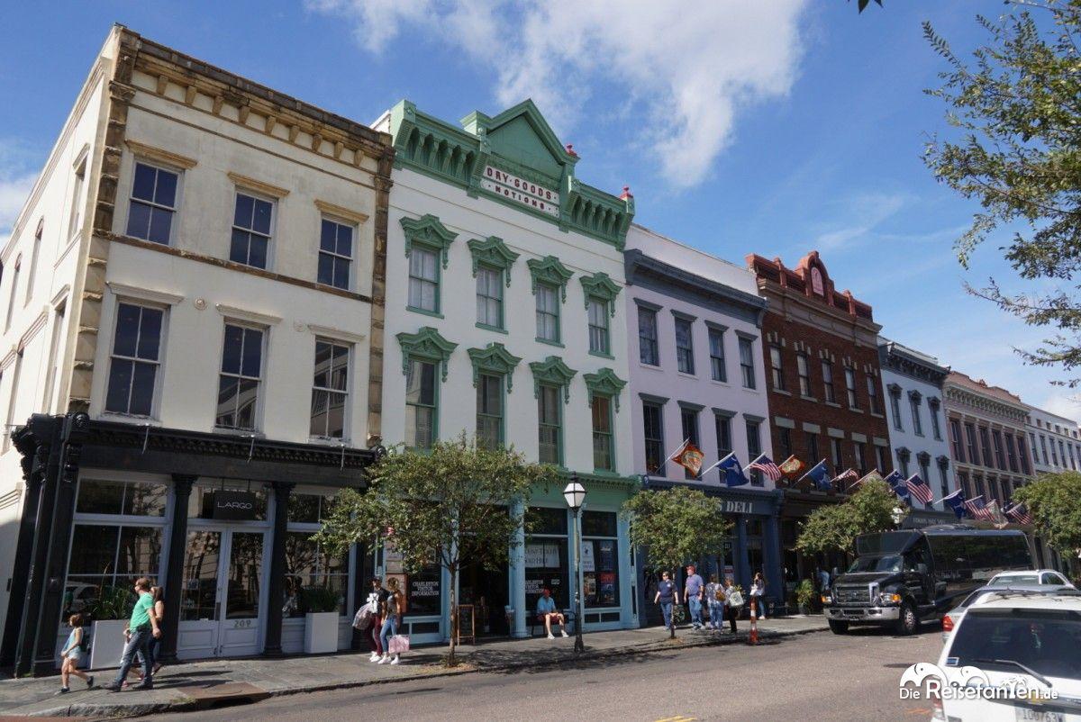 Schöne Gebäude in Charleston